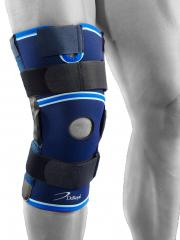 knee brace with metal hinges